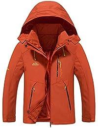 Men Hooded Waterproof Jacket Casual Lightweight Softshell Raincoat Outdoor Sportswear