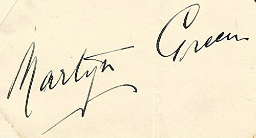 Singer Signed Autograph Card (Martyn Green (+) ACTOR SINGER autograph, signed card)