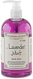 product image for Stonewall Kitchen Lavender Mint Fine Home Keeping Hand Soap, 16.9 Ounces