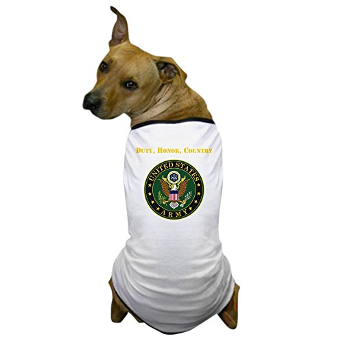 CafePress - Duty Honor Country Army - Dog T-Shirt, Pet Clothing, Funny Dog - Ring Of United Honor