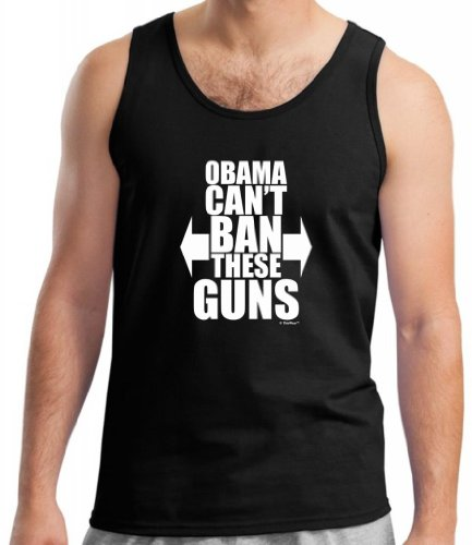 Obama Can't Ban These Guns Tank Top Large - For Men Ban