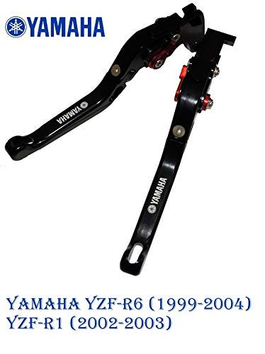 Motorfiets koppelingshendel verstelbaar met logo voor Yamaha YZF-R6 (1999-2004) YZF-R1 (2002-2003) vouwen