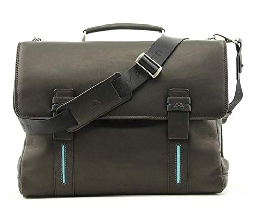 (Tony Perotti Italian Leather Flaminio Double Compartment Laptop Briefcase)