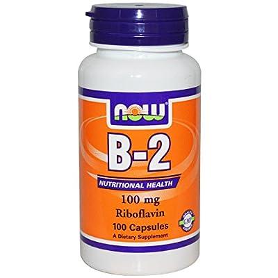 Vitamin B-2 100mg 100 Capsules (Riboflavin) (Pack of 2)