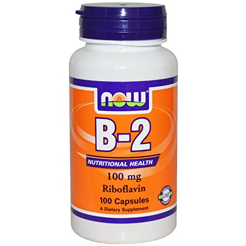 NOW Foods Vitamin B-2 (riboflavin), 100 Capsules / 100mg (Pack of 2)
