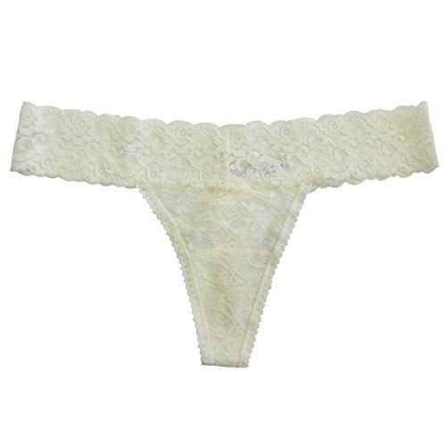 Undie Couture Lace Thong, Ivory