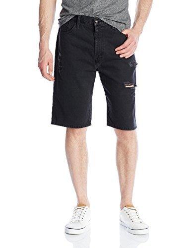 Levi's Men's 569 Loose Straight Short, Black Dell, 44