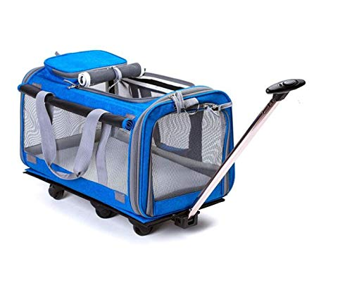 Darkbluee HONGSHENG Large Trolley With Integrated Trolley And Telescopic Handle Rolling Backpack,Darkbluee