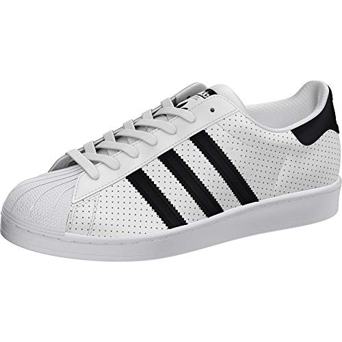 adidas Originals Men's Superstar Shoes Sneaker, White/Black/Core White, 16