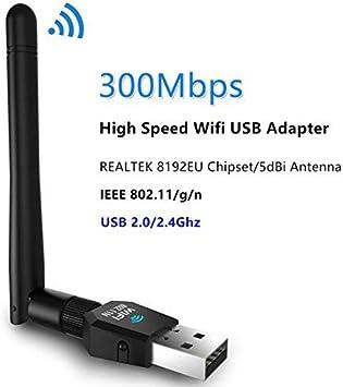 SoftAP - Tarjeta de conexión inalámbrica de alta ganancia con antena externa de 2 dBi para PC o tablet, compatible con Windows ...