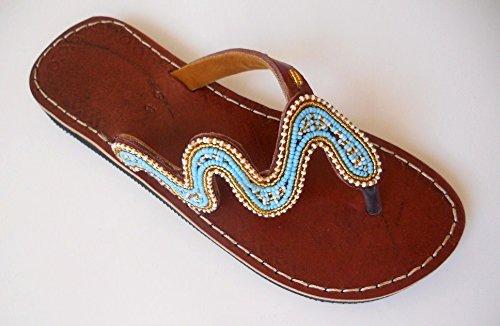 87a700a10e863 Amazon.com: Beaded sandals US 10 (EU 42) | Ethnic sandals | Leather ...