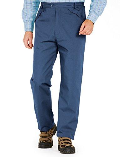 Ouatine De Hommes Rayé Pantalon Extérieur Résistant À L'Eau Thermale Bleu 91cm x 84cm