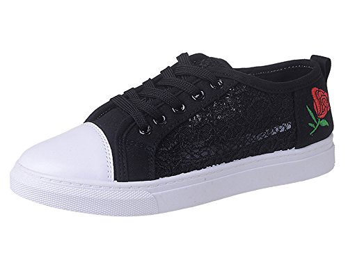 D'espadrille Chaussures En Black Pour Baskets Dentelle D'exécution De Enfants Sport Femmes Toile Cours Espadrilles Scothen Filles Eq04PP