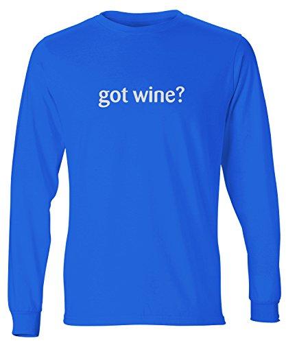 Dlx Wine - ShirtLoco Men's Got Wine Long Sleeve T-Shirt, Deep Royal Extra Large