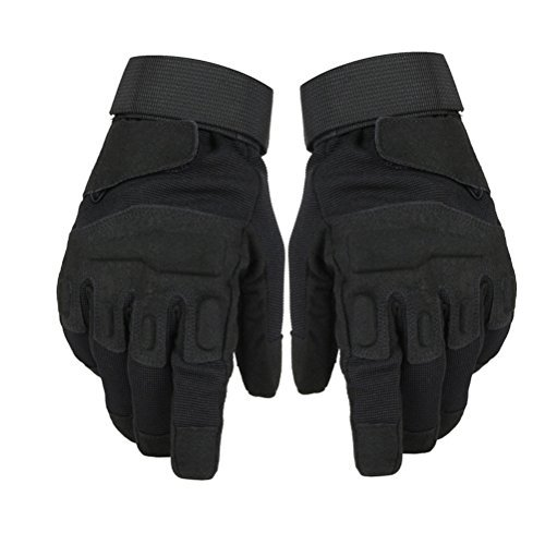Military Fingerless Glove Tactical Airsoft Gym Workout Cycling Gloves (Black-Long, Medium) (Airsoft Glock Conversion Kit)