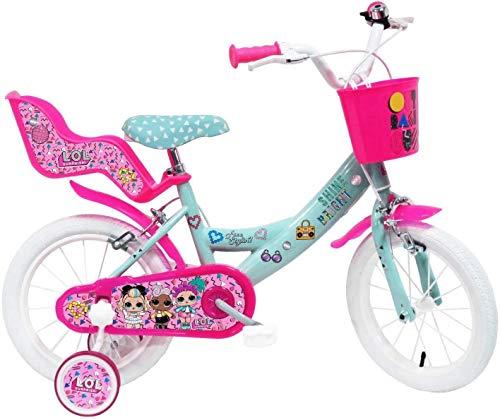 Mondo SMB250 – Bicicleta de 14 Pulgadas LOL Surprise Unisex Niño, Blanco, Talla #1.Value