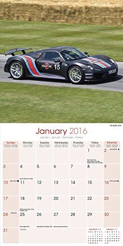 Porsche Calendar – Calendars 2015 – 2016 Calendar – Super Car Calendar – Automobile Calendar – Monthly Wall Calendar