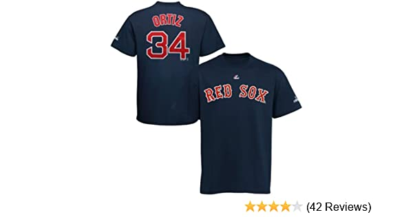 95790bc5f Amazon.com : David Ortiz Boston Red Sox Name and Number T-Shirt, Athletic  Navy : Sports Fan T Shirts : Clothing