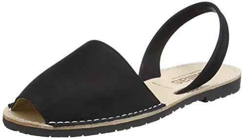 Solillas WoMen Noche Sling Back Sandals Black (Black)