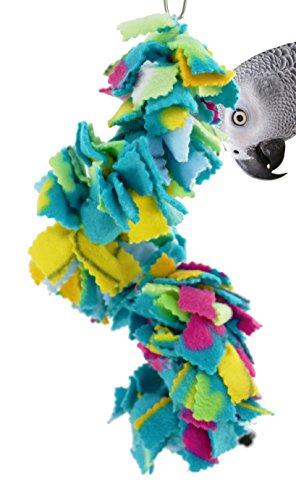- Bonka Bird Toys 1796 Twist Fluff Bird Toy Parrot Cage Blanket Cages Parakeet Cockatiel Fleece Cover Pet Snuggle Birds Cozy Covers Bedding Aviary Plush Nesting Pets Parrots