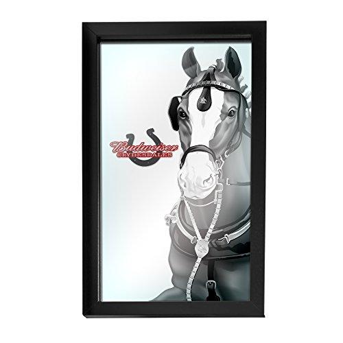 Trademark Gameroom AB1500-CLY-B Budweiser Framed Logo Mirror - Clydesdale Black