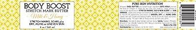 Body Boost Milk & Honey Stretch Mark Butter 8 oz.- Pregnancy and Nursing Safe Skin Care