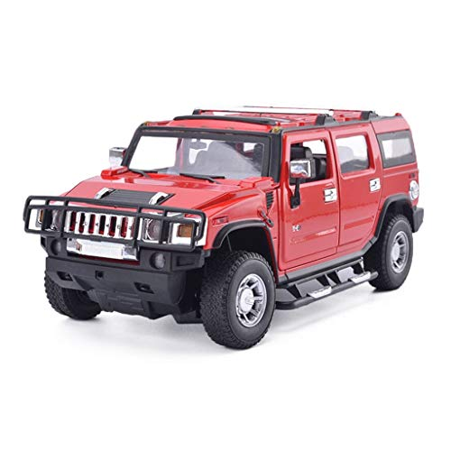 Hummer H2 Simulation Alloy Car Model 1:24 Static Model Children's Toy Car Model Decoration Collection Gift (Color : Red)