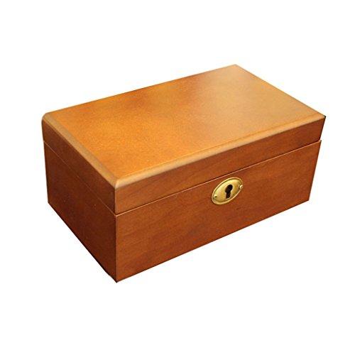 Reloj Caja de Almacenamiento de Madera para Hombres/Mujeres 3 Cuadrícula Reloj de Almohada estándar Caja de joyería con...