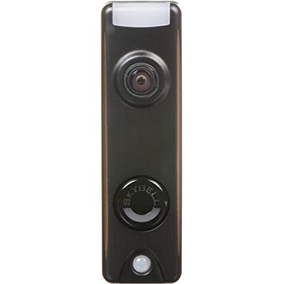 HoneywellSkyBell Slim Design 1080p Wi-Fi Video Doorbell Bronze Finish + Chime Adapter + 20 ft. Intercom Cable + AC Power Supply & 10 ohm/10 Watt Resistor + Outlet replacement plate, Works with Alexa