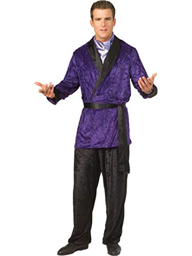 Playboy Smoking Jacket Costume (Rubie's Costume Mens Playboy Purple Smoking)