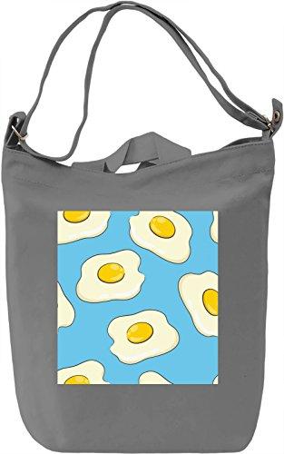 Eggs Print Borsa Giornaliera Canvas Canvas Day Bag| 100% Premium Cotton Canvas| DTG Printing|