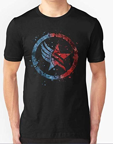 (Mass Effect Renegade Paragon Combo Splatter T-Shirt For Men Women)