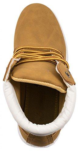 Elara Mujer Marrón motero estilo botas Claro qwqf7Pa