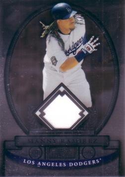 2008 Bowman Sterling Baseball - 2008 Bowman Sterling Manny Ramirez Dodgers Game Worn Jersey Baseball Card