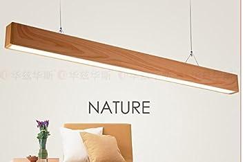 Imitation Éclairage led en bois luminaire suspendu studio de