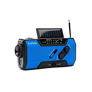 41O0GLrzj7L. SS300  - 2018 Upgraded Emergency Weather Radio Solar Phone Charger NOAA Hand Crank Dynamo AM/FM with Bright Flashlight, plus LED Camping Reading Lamp and, 2000mAh Power Bank USB 2.0