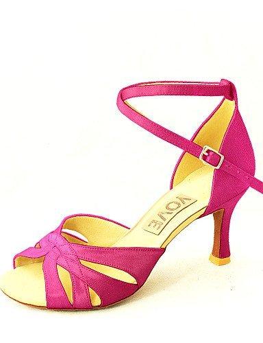Rouge Danse Violet Personnalisable Blanc Satin Talon Latine Shangyi Personnalisé Chaussures Femmes Jaune Bleu Fuchsia Blanc De Salsa Rose Noir qZn5A