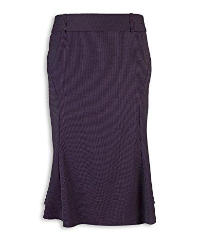 Alexandra Icona stc-nf15na-16acampanado falda, Plain, 77% poliéster/21% viscosa/2% elastano, tamaño 16, color azul marino