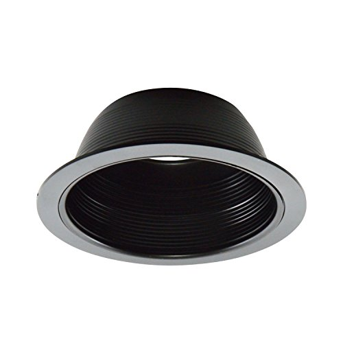 12 Pack - 6'' Black Baffle Trim with Black Ring for 6'' Recessed Can Lighting - Replaces BR30/PAR30/R30 by Four Bros Lighting (Image #1)