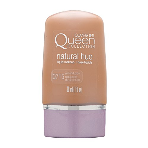COVERGIRL Queen Natural Hue Liquid Makeup Almond Glow 715, 1 oz (packaging may vary) (Cover Girl Queen Natural)