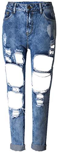 De Casuales Pantimedias 20 Las Color1 Jane Vaqueros Pantalones Denim Mujeres Mezclilla Pantalón Años Cintura Cher Stretch Alta Agujeros wUaqHw