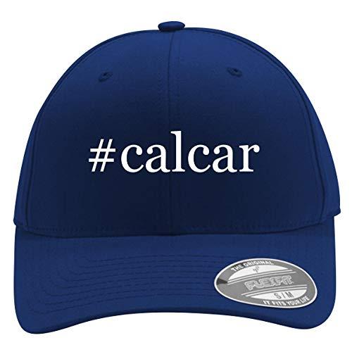 #Calcar - Men's Hashtag Flexfit Baseball Cap Hat, Blue, Large/X-Large ()