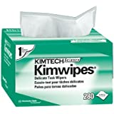 """KC 34155 Kimtech Science Kimwipes, 1-Ply, 4.4"""" x 8.4"""" Wipers (Case of 60 Boxes, 280 per Box)"""