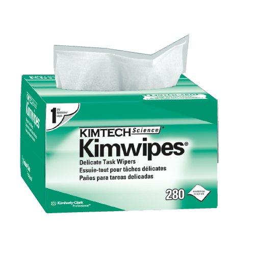 Kimberly-Clark Kimtech Kimwipes EX-L Wipes, 4-1/2'' X 8-1/2'', 280/box, 60 boxes/case by Kimberly-Clark