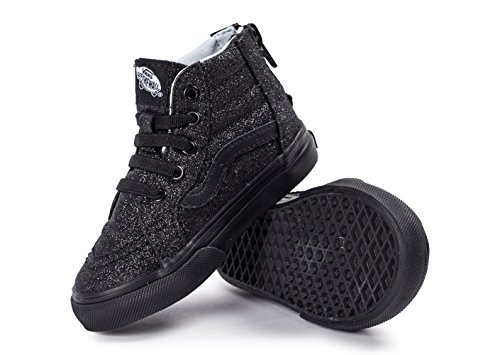 Vans Toddler SK8-Hi Zip Fall Winter 2016 (shimmer) black/black