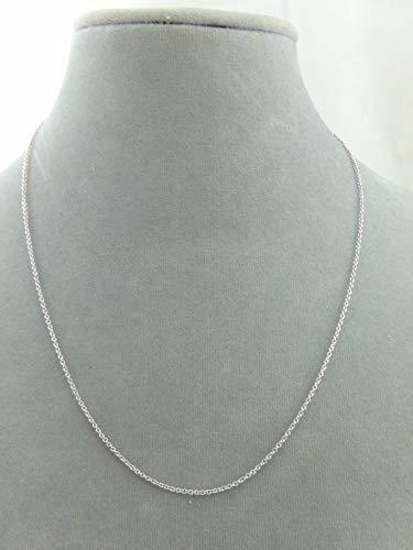 - 18'' 925 Sterling Silver Chain Rhodium Plated Won't Tarnish Add Own Pendant #ID-254