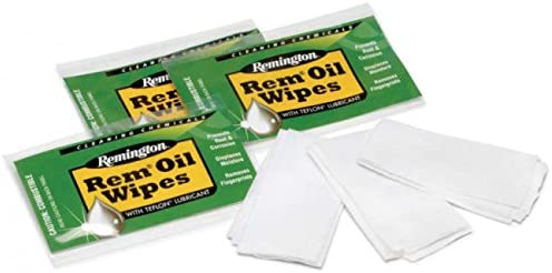 MRE Remington Oil Gun Wipes - 36 Wipes Total Clampack