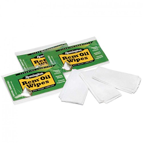 Remington Oil Gun Wipes - 36 Wipes Total Clampack by MRE
