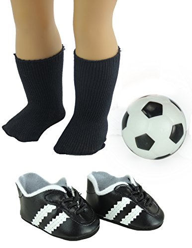 Super Soccer Set includes Ball, Soccer Cleats, and Socks | Fits 18