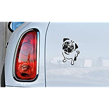 Amazoncom Pug Life Puppy Car Window Vinyl Decal Sticker Wide - Custom vinyl decals for carvinyl car use vinyl decals to refresh your cars look